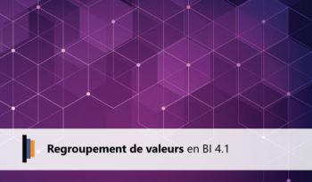 Regroupement valeurs bi 4.1