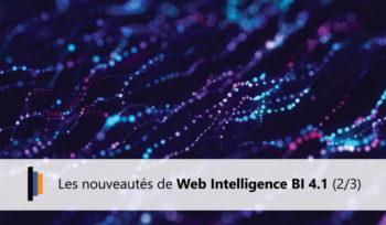 Nouveautés webintelligence bi 4.1