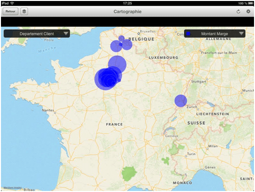 Cartographie SAP Ipad