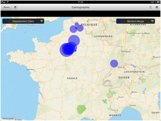 Cartographie SAP Ipad
