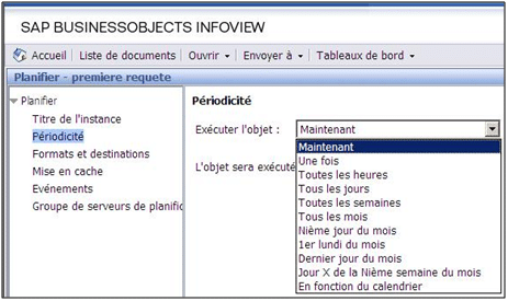 Périodicité Business Objects