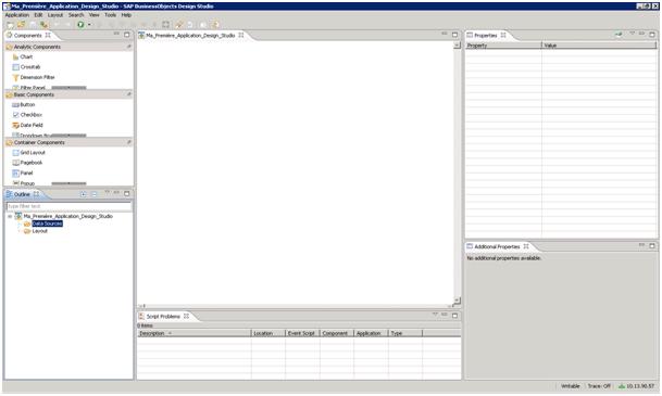 Définition des sources de données avec Design Studio