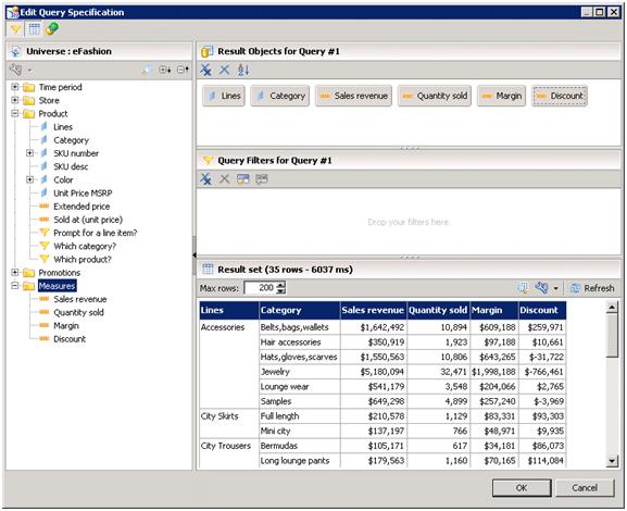 Requete SAP Design Studio