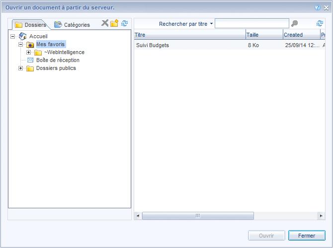 Favoris Excel webi