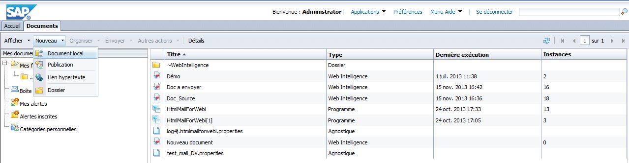 Accessibilité fichier serveur BO
