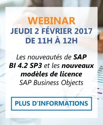 Webinar BI 4.2 et nouveaux modèles de licence SAP