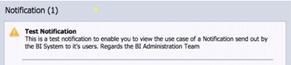 Notification utilisateur SAP BI4