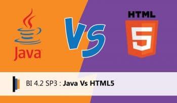 BI 4.2 JAVA VS HTML