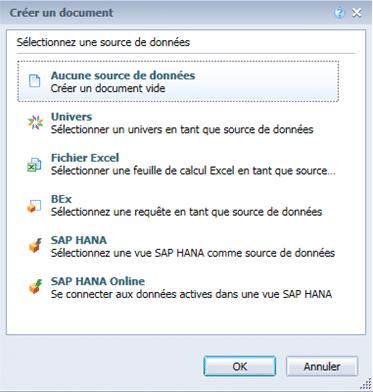 Sources de données HTML