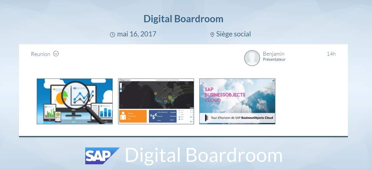 Visualisation Digital Boardroom