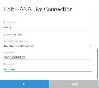 HANA Live Connection