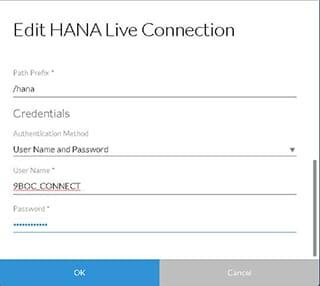 HANA Live Connection
