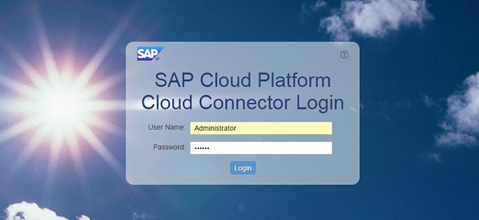 Login Cloud Connector