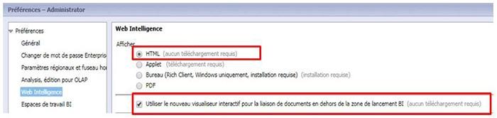 Fonction opendoc en BI 4.2 SP5