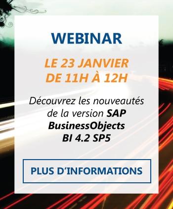 Informations Webinar nouveautés SAP BI 4.2 SP5