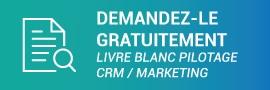 Demande de livre blanc Pilotage CRM Marketing