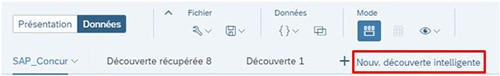 Découverte intelligente SAP Analytics Cloud