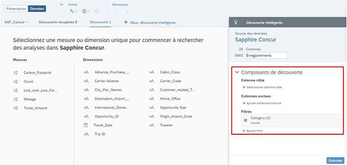 Smart Discovery sur SAP Analytics Cloud