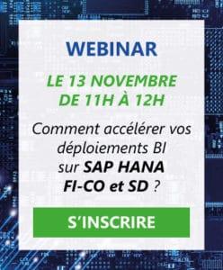 Inscription Webinar SAP HANA