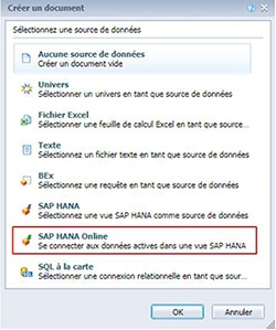 Web Intelligence SAP HANA Online