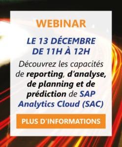 Informations Webinar SAP Analytics Cloud