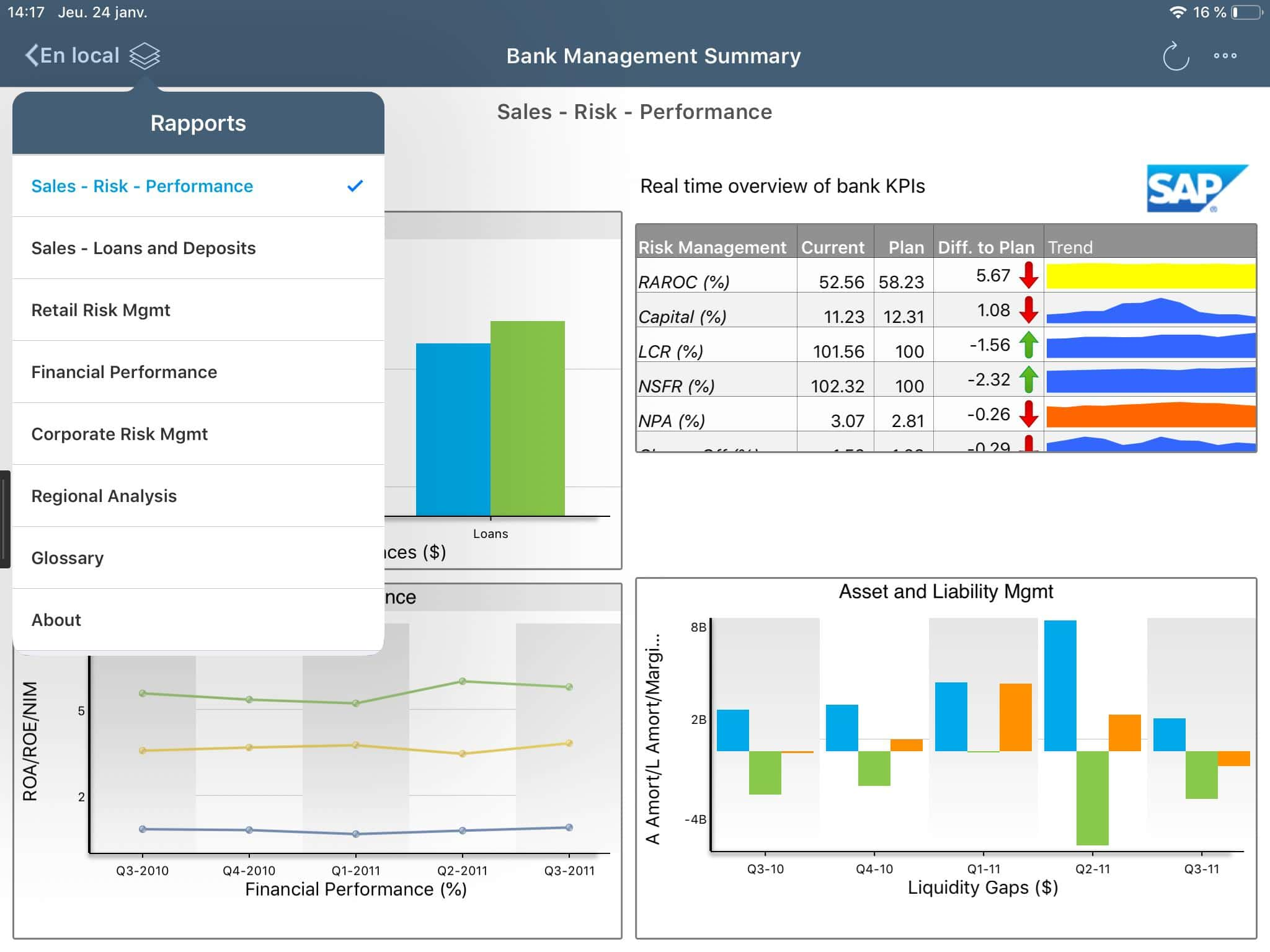 Dashboard SAP BO Mobile