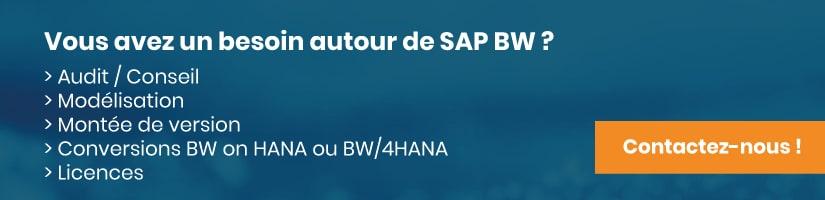 Mise en relation pour un projet SAP BW