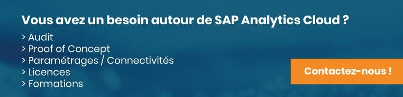 Mise en relation pour un projet SAP Analytics Cloud