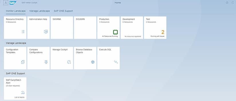 SAP HANA Cockpit 2 0 : Focus le monitoring des systèmes SAP HANA