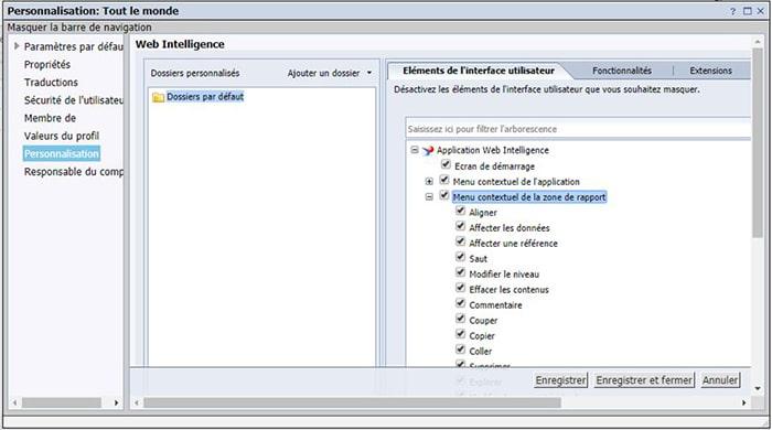 Personnalisation du menu contextuel avec la SP7