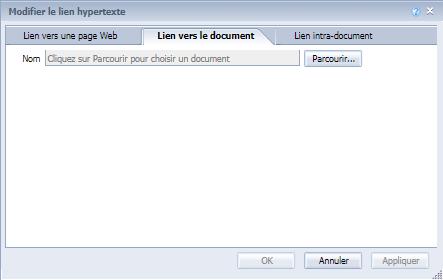 Lien vers un document dans Web Intelligence