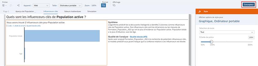 Mode Concepteur SAP Analytics Cloud