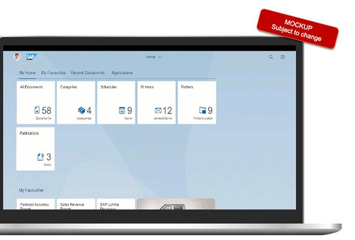 Portail Fiori SAP BI 4.3