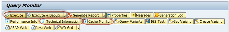 Query Monitor SAP BW