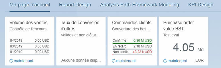 Tuile Fiori des Embedded Analytics