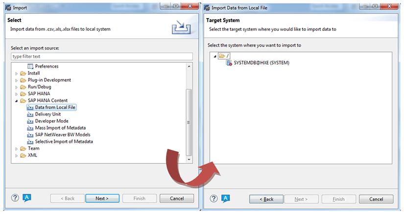 Première étape intégration de fichiers plats sur SAP HANA