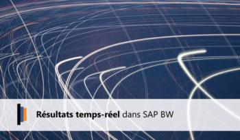Résultats temps réel SAP BW