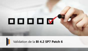 Validation de la BI 4.2 SP7