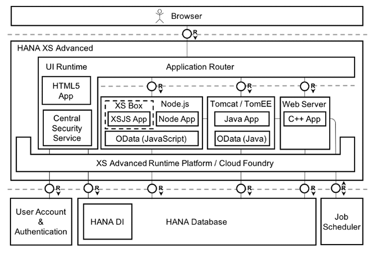 Architecture SAP HANA XSA
