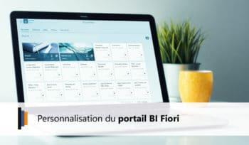 Personnalisation du portail BI Fiori
