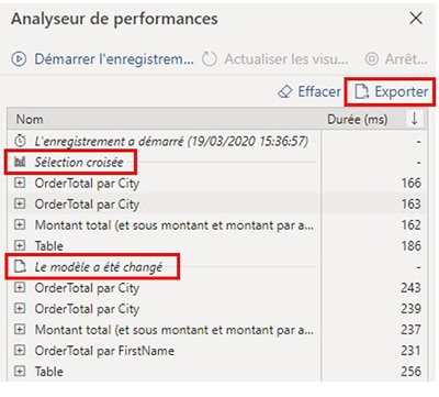 Analyseur performance Power BI Desktop