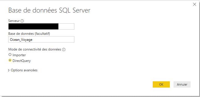 Source base de données SQL Server