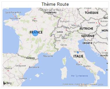 Theme route carte power bi