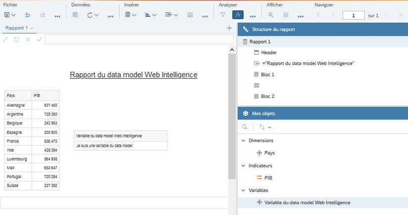 Création Data Model Web Intelligence BI 4.3