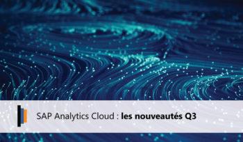 Nouveautés Q3 2020 SAP Analytics Cloud