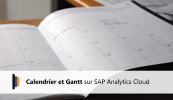 Calendrier et Gantt SAP Analytics Cloud
