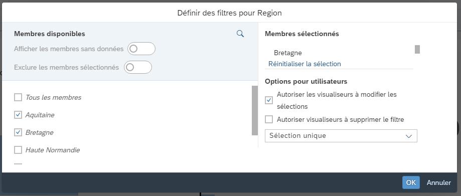 Configuration filtre dynamique
