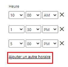 Choix horaire actualisation power bi