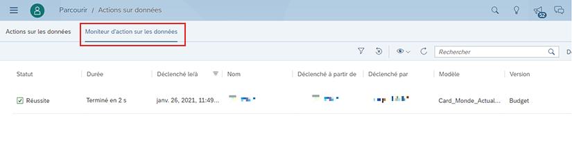 Nouveautés Planification SAP Analytics Cloud