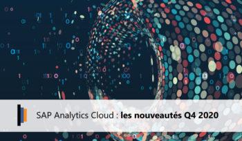 Nouveautés Q4 2020 SAP Analytics Cloud